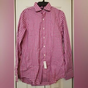 Polo Ralph Lauren Plaid Oxford NWT M (Pink)